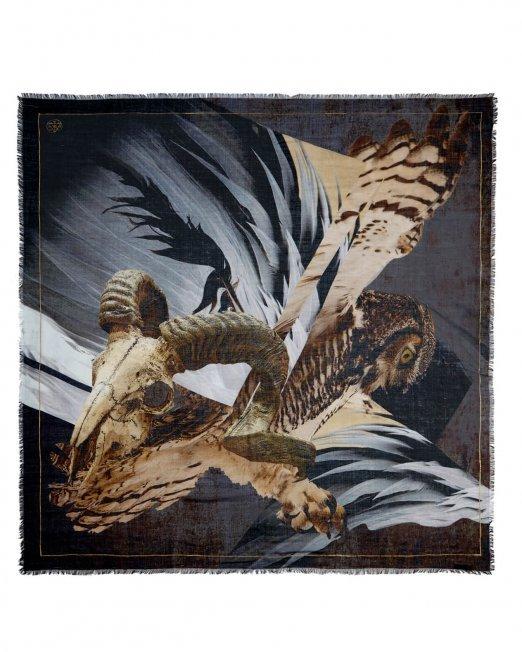 omen scarf owl ram skull BJORNE of Norway 04b (1) (1)